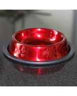 Ruokakuppi_Bowl_Red_Metal_16cm