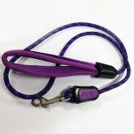 Koiran talutushihna | Purple Neopren Talutin Koiralle | Punottu hihna | Miellyttävä Neopreeni Käsilenkki | Pituus n. 120cm