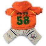 Koiran Haalari New York Orange | Hupullinen Haalari Pienelle Koiralle