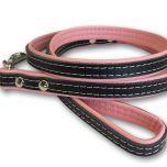 Koiran Talutin Pink & Black | Kissan Talutin | Kevyt, Taipuisa, Nahkainen Talutushihna