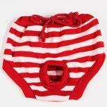 Koiran juoksuhousut Red & White Stripe | DiivaDog.fi