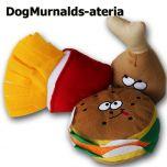 """Koiran Lelu, Dog Murnalds Pehmolelut koiralle, Valitse Koko """"Ateria"""" tai Lempi Lelut"""