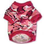 Koiran T-Paita Camo Pink, Vapaa-ajan rento paita koiralle, DiivaDog