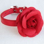 Upea punainen ruusu-kaulapanta koiralle tai kissalle, Red Rose, DiivaDog