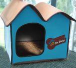 Koiranpeti Villa Dog Blue Avantgarde, oma pieni talo koiralle tai kissalle, DiivaDog