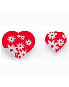 Nimilaatta Daisy Heart Red