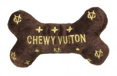 Koiran Lelu | Pehmolelu koiralle | Chewy Vuiton Bone | pieni vinku sisällä, kaksi kokovaihtoehtoa