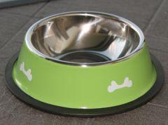 Koiran luukuvioitu ruokakuppi Malaga Lime. Kupin halkaisija n. 22 cm. Ruostumaton teräs. Herkullinen lime väri. Liukueste kupin reunoissa. DiivaDog.fi