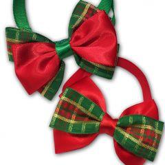 Joulurusetit Red & Green Pienelle Koiralle tai Kissalle