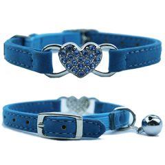 Kissan kaulapanta timanttisydän sininen