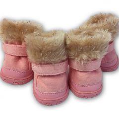 Tossut Koiralle Arctic Pink Pakkas Bootsit | Lämpimät, Pehmoiset Suojatossut Koiralle