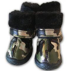 Tossut Pienelle Koiralle Camo Golden Green Boots