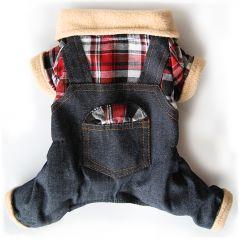 Koiran Haalari, Farkkuhaalari, Remonttihaalari, farkkukangasta ja pehmoista fleece-materiaalia, DiivaDog