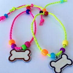Koiran Kaulakoru, Koiran helmet, Koru Koiralle, Bone Party , Sopii Koiralle, jonka kaulanympärys max 25cm