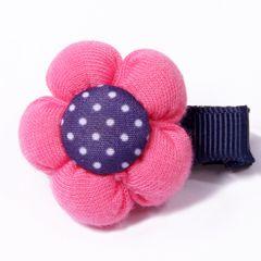 Koiran hiuskoru pinkki kukka klipsillä