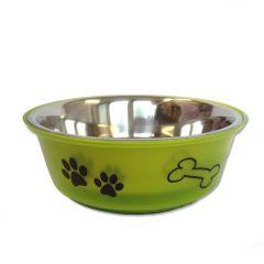 Koiran Ruokakuppi |Lime Paws & Bones |Tassukuvioinen Ruokakuppi
