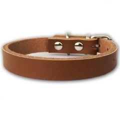Kaulapanta Pienelle Koiralle tai Kissalle | Mini Leather Brown Minimalistic | Pehmeä Nahka