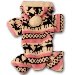 Koiran Haalari Pinkki Lumiporo | Pehmo-oloasu koiralle, hupullinen koiran haalari