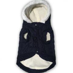 Koiran Huppari Love Blue Fleece & Knit | Sopii Leveämpirunkoiselle Koiralle