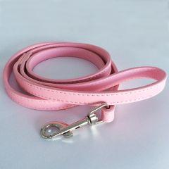 Koiran Nahkahihna Pink Leather | Vaalea Pinkki Talutin Lemmikille