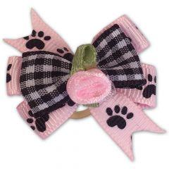 Koiran rusetti | Paws-On-Pink -Hiusrusetti Lenkkikiinnitys