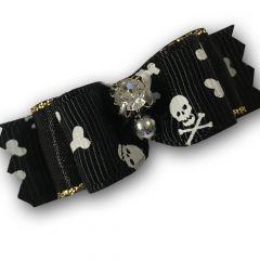 Koiran rusetti Serious Skull | Vakuuttava Ponnarirusetti Lemmikille | Lenkkikiinnitys