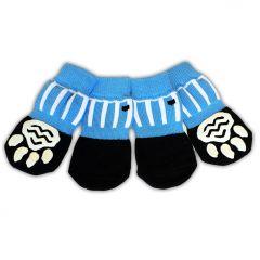 Koiran Sukka Blue Ball Pelisukat, Liukuestesukat Koiralle,  Sporttiset Koiran Jarrusukat, 4 sukkaa paketissa