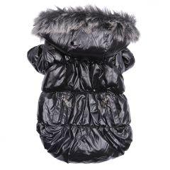Koiran vaatteet | Koiran Toppatakki Heavy Metal Black Jacket | Kosteutta hylkivä pinta