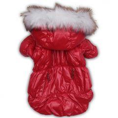 Koiran vaatteet | Koiran Toppatakki Heavy Metal Red Jacket