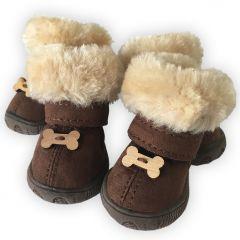 Koiran Bootsit |Dog Winter Boots, Arctic Bones |Ihanat Luusomisteet |Kengät Pakkaselle tai Muuten Paleleville Tassuille |4 Tossua Paketissa