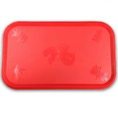 Koiran ja Kissan Ruokakupin Alusta Rubber Red
