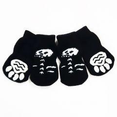 Koiran Sukka Black & White | Hurjat Luuranko Liukuestesukat Koiralle