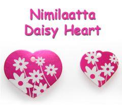Nimilaatta Daisy Heart Pinkki