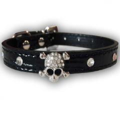 Koiran Kaulapanta Pääkallo Black | Musta Kovis panta Koiralle tai Kissalle