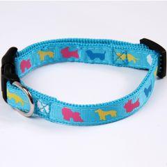 Koiran vaaleansininen kaulapanta Dogs of the World, DiivaDog