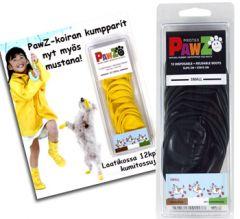 Koiran kestävät ja pestävät mustat PawZ suojatossut | Luonnonkumiset PawZit suojaavat tassuja vedeltä, kuralta ja kemikaaleilta | Pehmeät PawZit mukautuvat tassujen liikkeisiin | Pakkauksessa 12 kpl PawZ tossuja | Dii