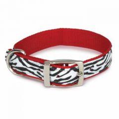 Koiran kaulapanta | Kissan kaulapanta Zebra Red & Black & White