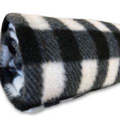 Torkkupeitto Black-White Fleeceviltti | DiivaDog.fi