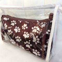 Ruskea koirantarvikesetti | Tassukuvio ** Kaksi Kätevää Toilettipussia matkalle mukaan tai arkipäiväiseen käyttöön **